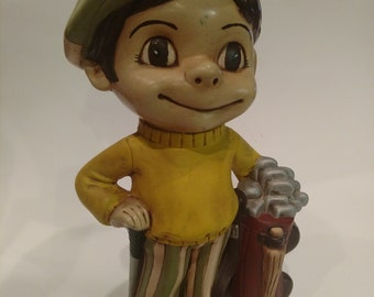 OOAK Atlantic Mold Ceramics Big Mike Golfer 1979 Figurine