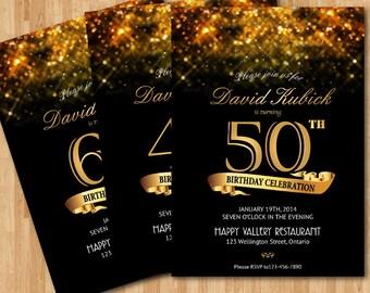 40th birthday invitation fire flames 30th 40th 50th 60th 70th