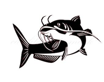 Cat Fish Cut Files SVG & Studio 3 File for Silhouette Brother Cricut  Cutouts Decals Designs
