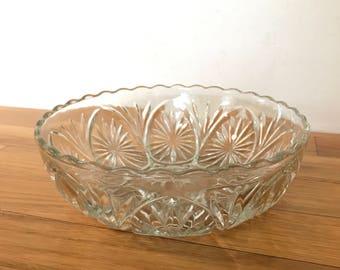 Vintage Star Burst Glass Serving Bowl