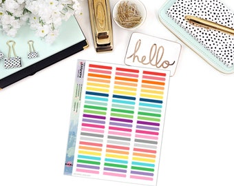 SKINNY WASHI STRIP Paper Planner Stickers - Mini Binder Sized/3 Hole Punched