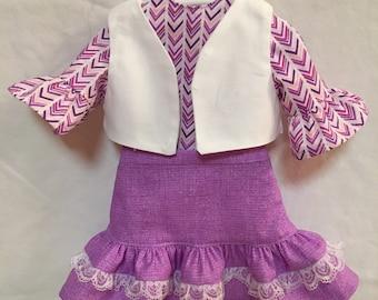 3pc Ruffle Skirt Set