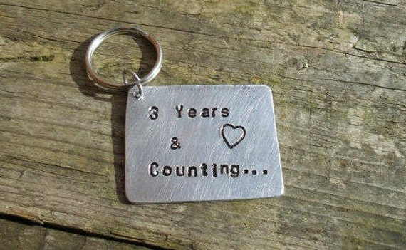 Year anniversary tin three keyring rd wedding gift gifts