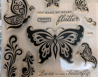 CTMH NEW Butterfly Wings acrylic stamp set, D1341