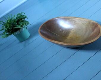 Dinner Time.. Vintage Oval Wood Bowl, Home Decor, Kitchen Decor, Fruit Bowl, Salad Bowl