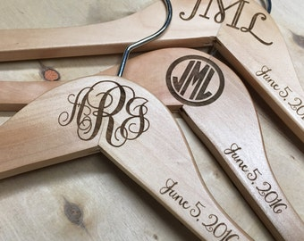 Wedding Hanger | Bride Hanger | Bridesmaid Hanger | Monogram Hanger | Bridal Hanger | Wedding Dress Hanger - Personalized for you & yours!