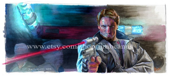 "Terminator - .45 Longslide with Laser Sighting 5""x11"" Poster Print"