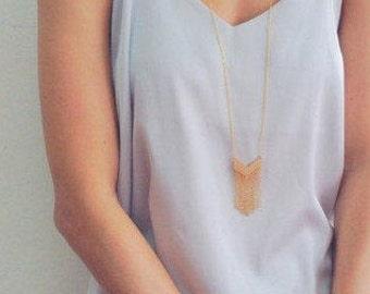 Chevron Necklace, Long Necklace, Boho Gift Ideas, Geometric Necklace, Long Necklace, Gold Necklace, Silver Necklace, Geometric Jewelry, Boho