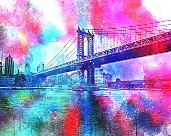 Pink Explosion New York Colorful Photography