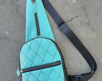 Leather women's Fanny Pack, Messenger bag, Leather Fanny Pack, Belt Bag, Crossbag, Black leather belt bag, Modern bag