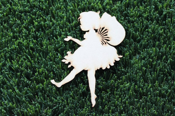 1 Craft Wood Sweet Pixie Cut Out,  9 cm Wide, Laser Cut Wood