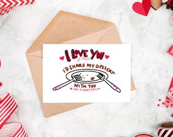 I Love You Card | Love Card | Valentine's Day | Funny valentine Card | Valentines Day | Funny Card | Valentines Day Card | Card for Husband