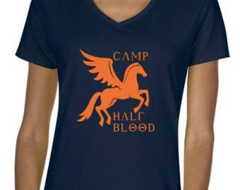 LADIES CUT Camp Half Blood Shirt Inspired by Percy Jackson and the Olympians VNeck T-shirt - Multiple Size and Color Options Available