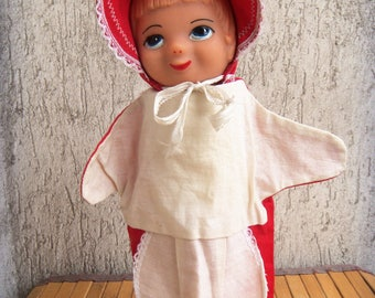 Red Riding Hood Hand Puppet Fairy Tale Glove Little Redriding Hood