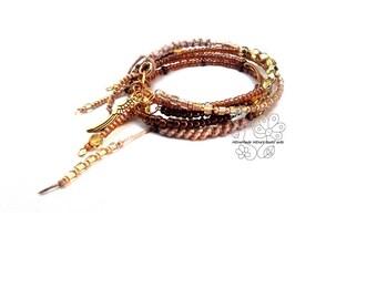 Memory wire boho fringes bracelet jewelry artisan jewellery bohemian fringes gift for her