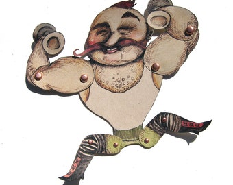 Marionette Zirkus starker Mann - beweglich