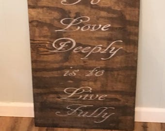 Rustic Wood Love Sign