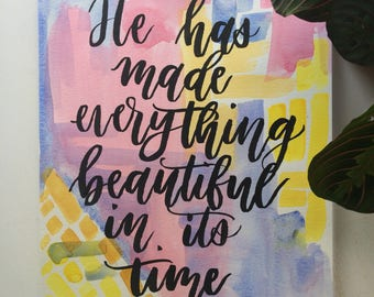 Ecclesiastes 3:11 watercolor and ink painting