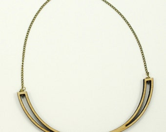 Wishbone - Wooden Laser Cut Necklace