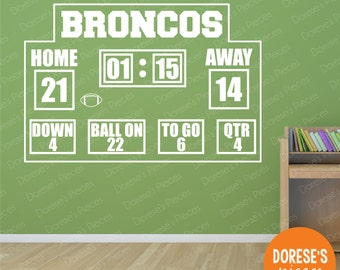 CUSTOMIZED Football Scoreboard And Other Sports Designs