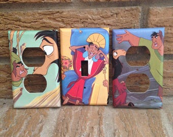 Emperors New Groove Light Switch and Elctrical Covers, Cuzco, Pacha, Decoration, Inca, 1