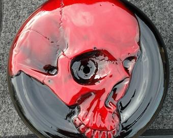 Harley-davidson  air cleaner customs 3D Scarlet Red skull