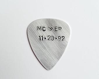 Wedding Gift | Personalized Gifts | Custom Guitar Pick | Anniversary Gift for boyfriend |  Initials Guitar Pick | Husband gift