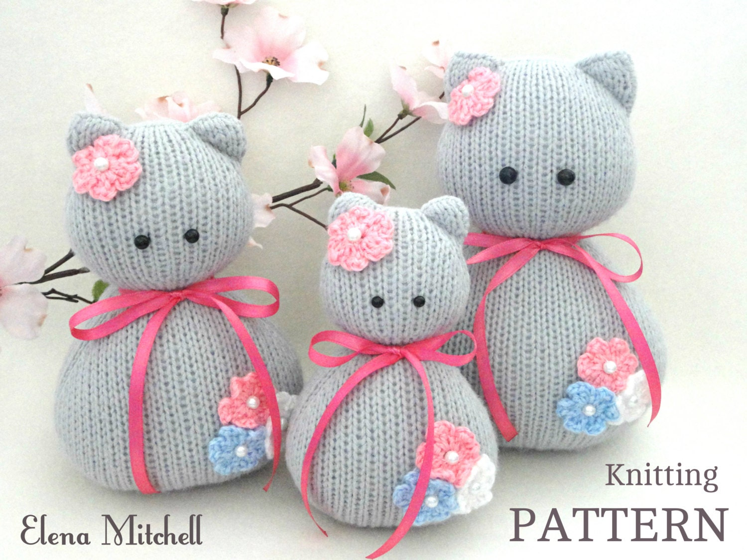 Knitting PATTERN Animal Knit Pattern Cat Animal Patterns Children ...