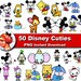 50x Disney Cuties Cartoon Clipart PNG printable Digital Graphic Instant Download