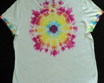 Tie-Dye, Rainbow Burst, Ladies' Fit 2XL