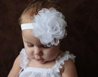 Baby headband, Confirmation Headband, Baby Girl Flower Headband, Baby Headband, Infant Headbands, Flower Headbands, Baby Girl Bow, Baby Bow