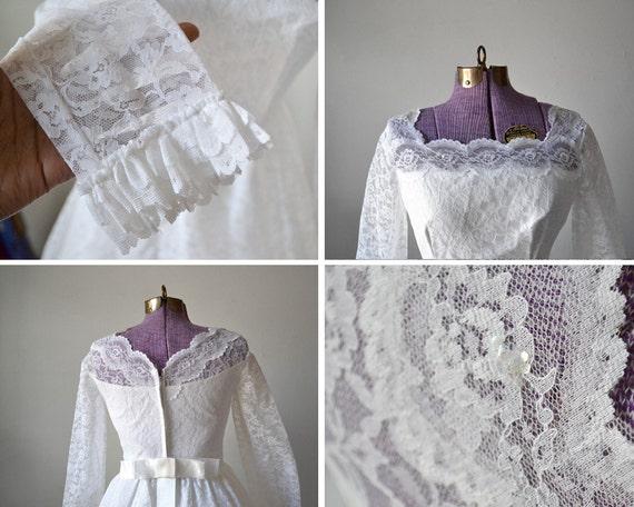 Wedding small 50s dress long dress modest style dress xs bridal Middleton Kate wedding extra wedding wedding 1950s lace vintage gown dress rqwr4ZP