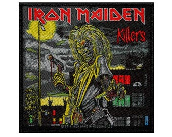 Iron Maiden Killers Patch Album Cover Art Heavy Metal Woven Sew On Applique