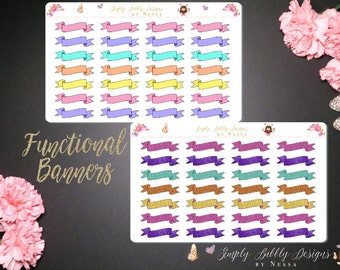 Functional Banners/Headers - Planner Stickers