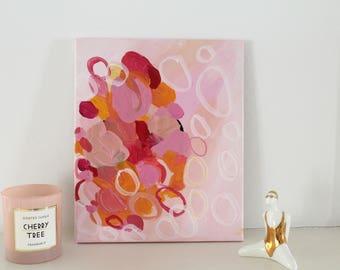 "Acrylic on canvas ""Happy No. 1 ""25 x 30 cm Modern Art contemporary art acrylic original abstract painting on canvas"