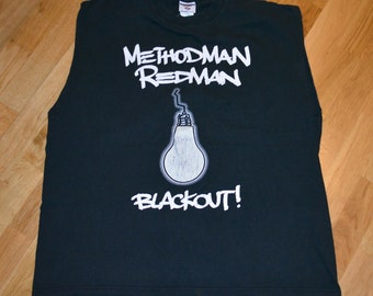 1990's METHOD MAN + REDMaN vintage rare original hip-hop rap concert tour vtg tee t-shirt tshirt (XL) X-Large Wu-Tang Clan GiFT