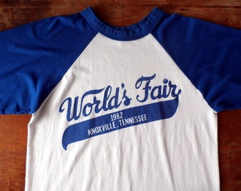 Vintage T-shirt, 1982 World's Fair Knoxville, TN, 1980s Jersey Tshirt