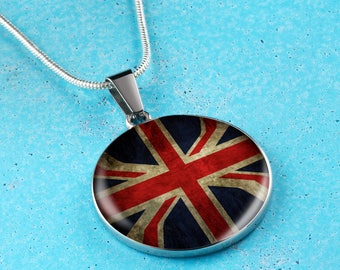 United Kingdom Necklace - British Gifts - United Kingdom Engraved Necklace - British Jewelry - Gift for Mom - Mother's Day Gift