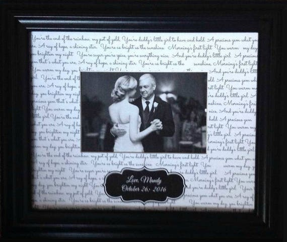 First Dance Husband Lyrics Frame Father Daughter Dance Lyric