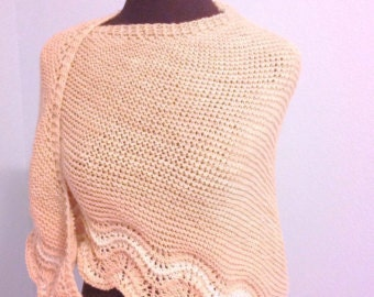 Coquille Shawl PDF knitting Pattern only