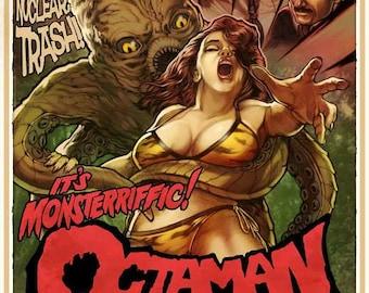 Octaman (1971) movie poster 11 x 17 science fiction horror Pier Angeli Kerwin Mathews creature feature Rick Baker monster costume cult film