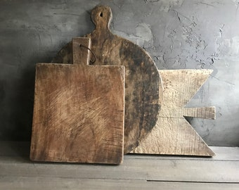 1 French Wood Chopping Board, Cutting, Cheese Serving, Rustic French Farmhouse Cuisine