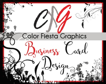 Custom Business card or Hang tag graphic design - double-sided - plus a round of UNLIMITED complimentary edits