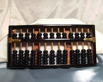 All Wood and Brass Asian Abacus - the original calculator