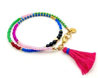 Wrap Bracelet / Beaded Bracelet / Tassel Bracelet / Seed Bead Bracelet / Summer Bracelet/ Bohemian Bracelet / Birthday Gift / Mothers Gift