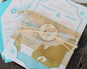 Typography Travel Wedding Invitation (Los Cabos, Mexico) - Design Fee