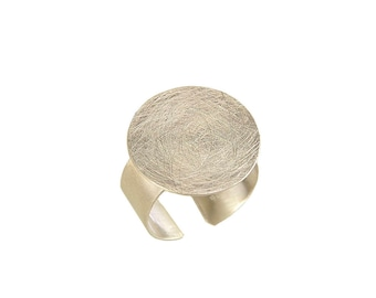 Sterling silver pinky ring, circle ring, matte brushed ring, minimal ring, ring without stone, simple little finger ring, ring under 40