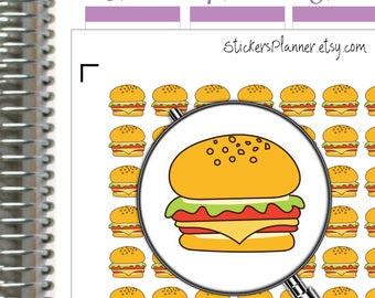 Hamburger Stickers Planner Hamburger Planner for Erin Condren Planner Happy Planner Fast Food Stickers Fast Food Planner Lunch Stickers i74)