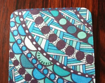 """Zentangle Coasters - Fun Drinking Coasters - Set of Artistic Coasters hand drawn by ZenJoanie - """"Connect the Dots"""""""