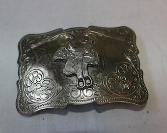 Belt Buckle Vintage Silver style Horse Saddle Belt Buckle